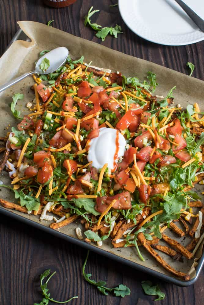 Vegan Sweet Potato Sheet Pan 'Nachos'