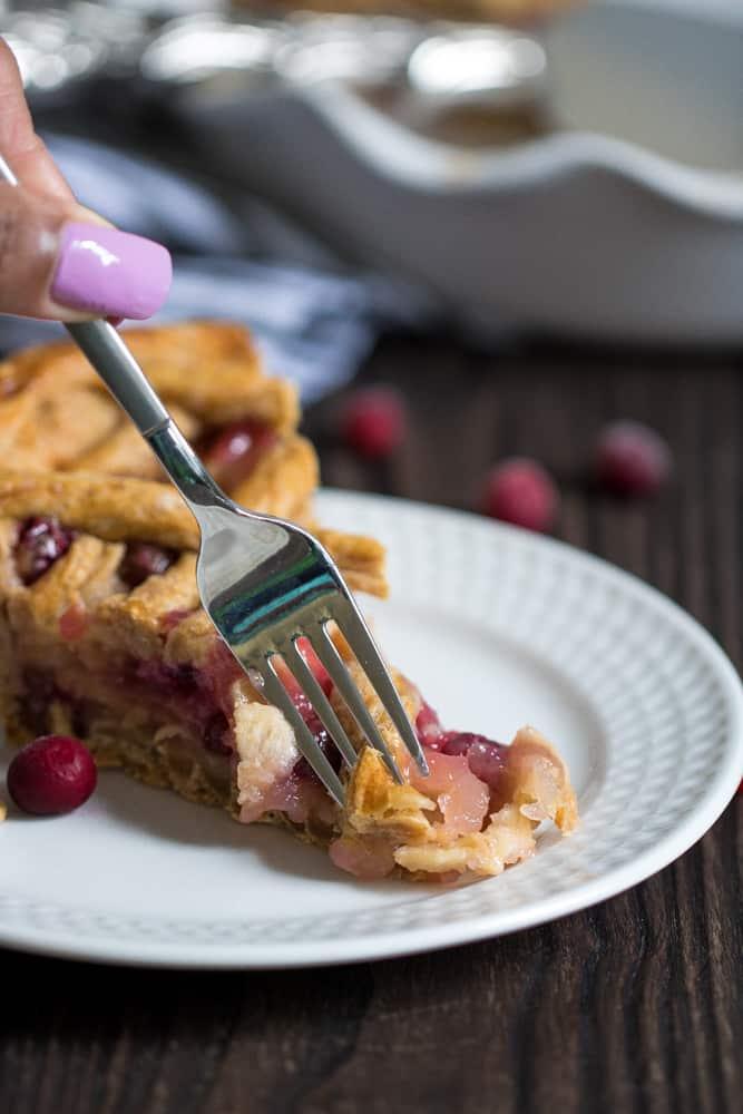 Gingerbread Apple Cranberry Vegan Pie