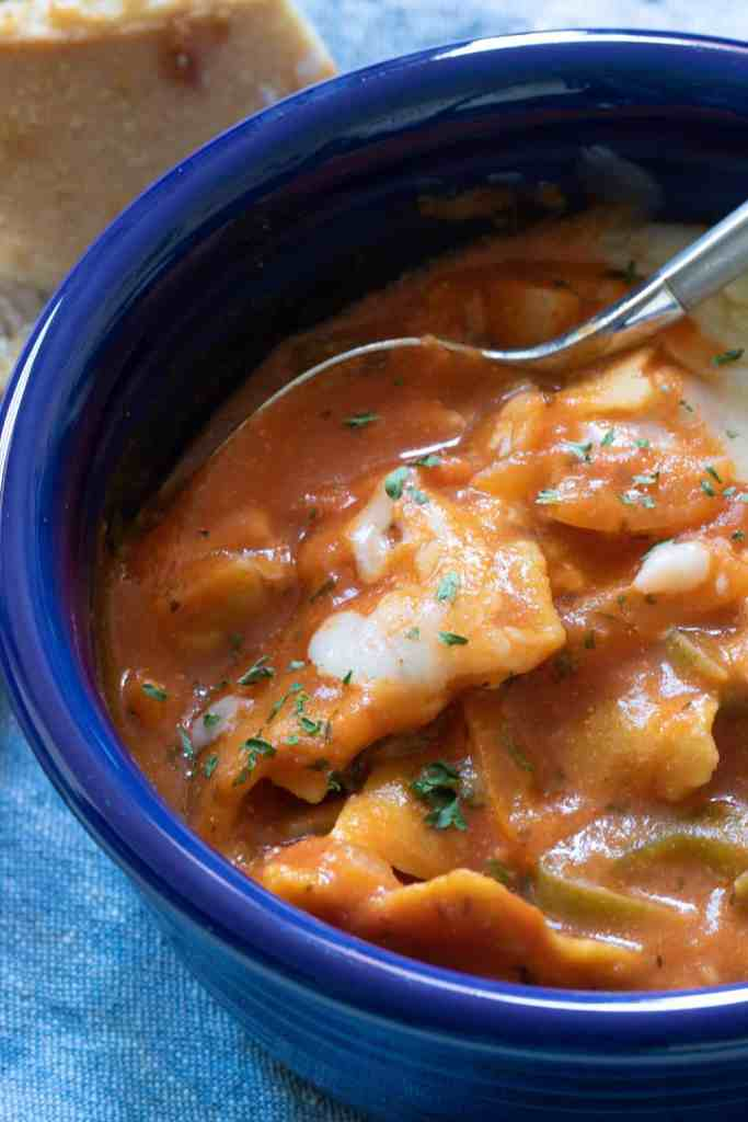 Healthy Veggie Vegan Lasagna Soup