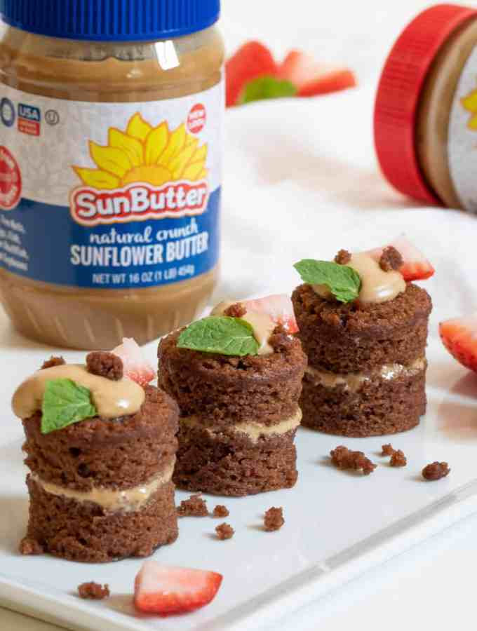 Chocolate SunButter Vegan Mini Cakes