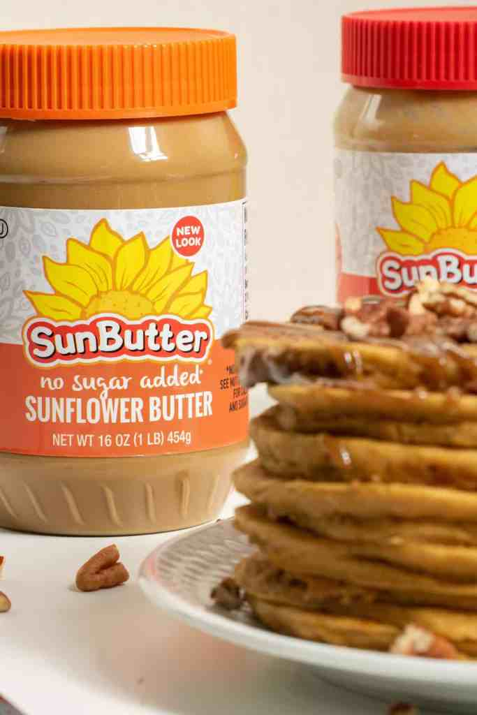 xSweet Potato SunButter Pancakes + Salted SunButter Caramel