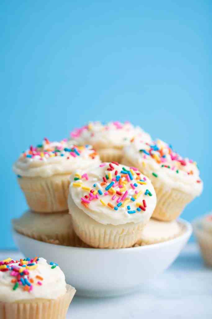 The Best Vanilla Cupcakes with Sprinkles