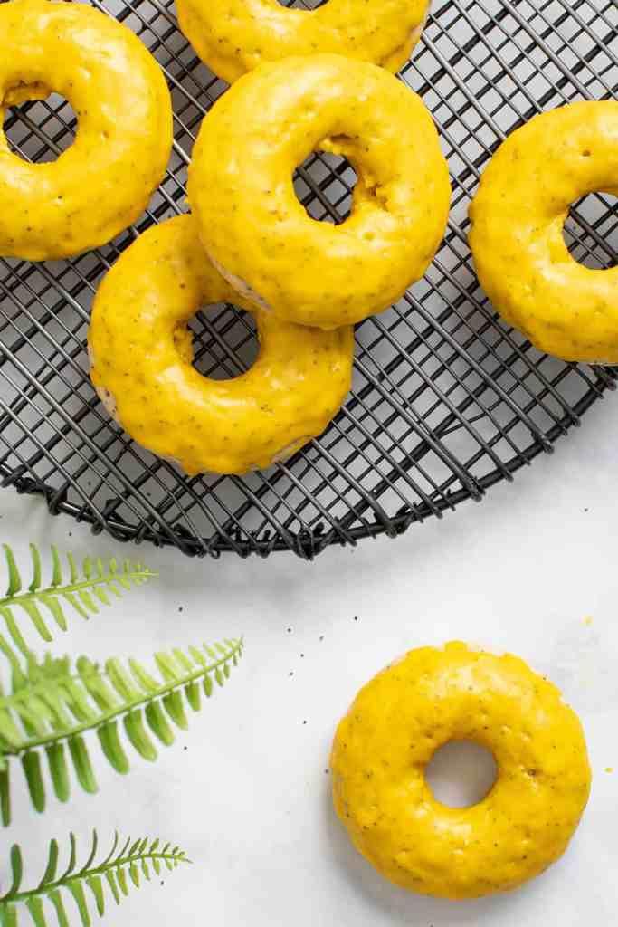 Vegan Lemon Poppy Seed Donuts
