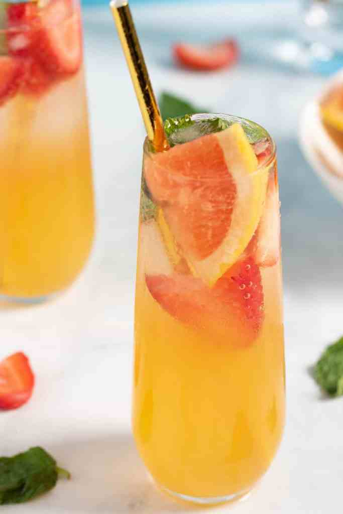 Strawberry Grapefruit Mint Spring Sodas