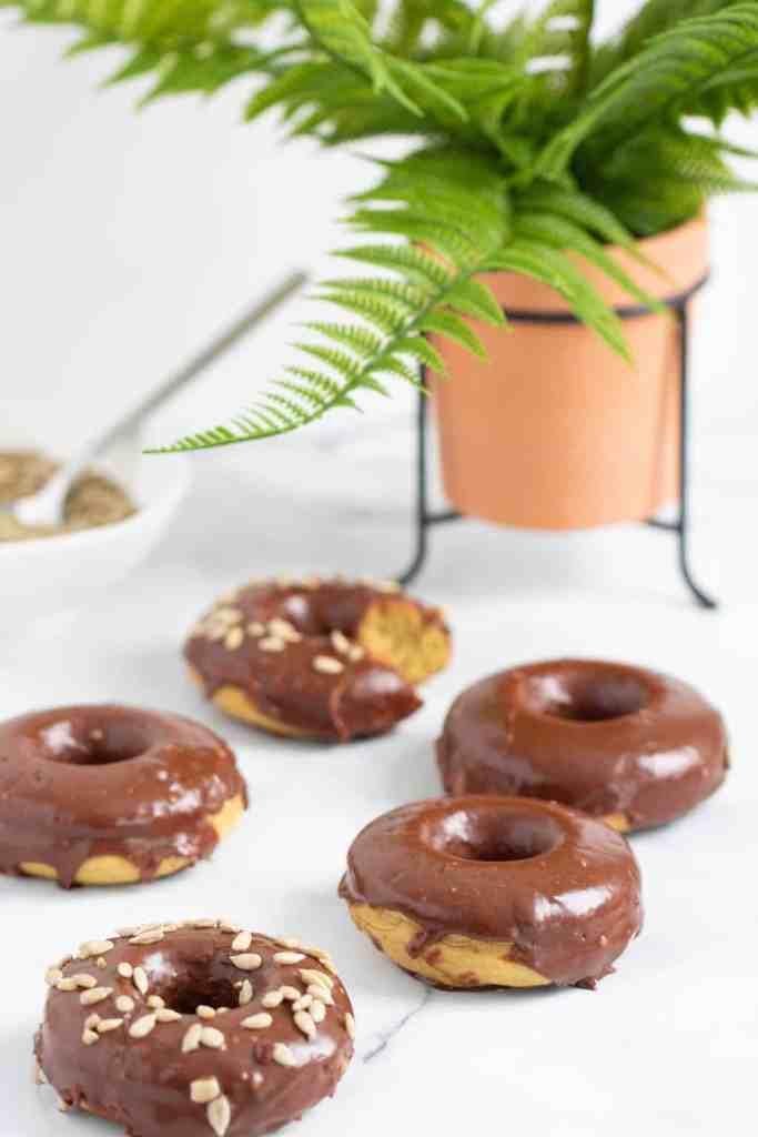 Vegan Sunflower Butter + Chocolate Doughnuts