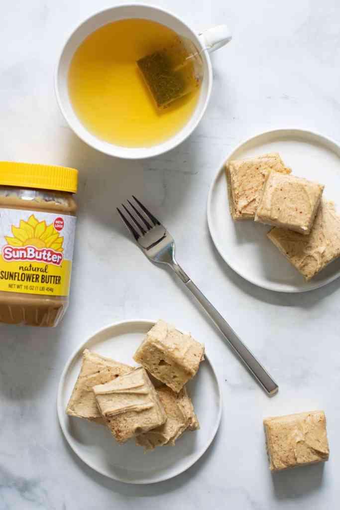 Banana Sheet Cake + Sunflower Butter Frosting