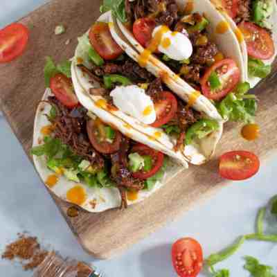 Sweet Heat BBQ Braised Rib Tacos