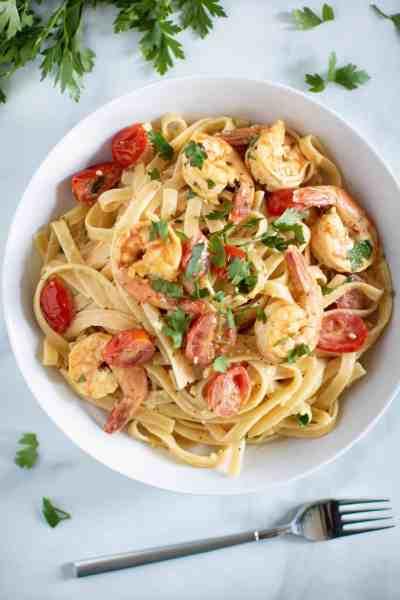 Savory Lemon Garlic Shrimp Pasta