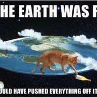 If the earth was flat.