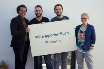 Das Support-Team von orderbird. Von links: Delvin, Tony, Adrian und Uli. Kundenzufriedenheit steht bei orderbird an erster Stelle.