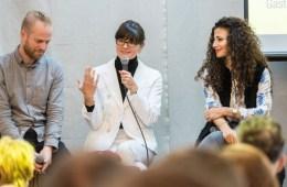 Ansgar Oberholz und Cynthia Barcomi auf dem Gastro-Gründertag