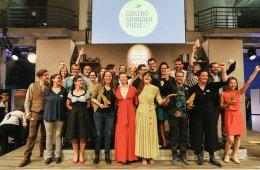 Die Jury und Gewinner des Gastro-Gründerpreis 2017 bei der Preisverleihung
