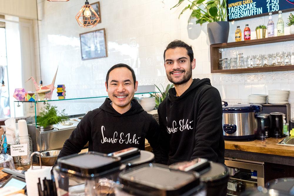 Glückliche Gastro-Gründer: Juuga Sakai und Jamin Mahmood