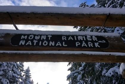 Mt Rainier Winter Solitude