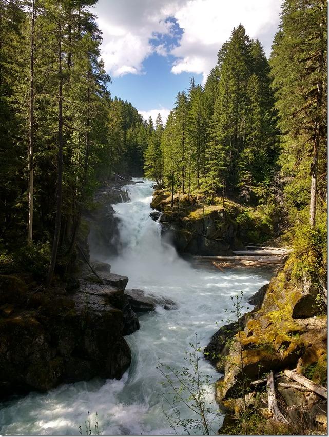 Silver falls Mt Rainier national park Eastside trail