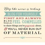 6 Reasons Why You Should Blog About Anything