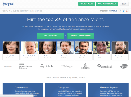 freelance websites toptal