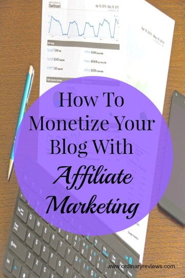 how to monetize your blog with affiliate marketing