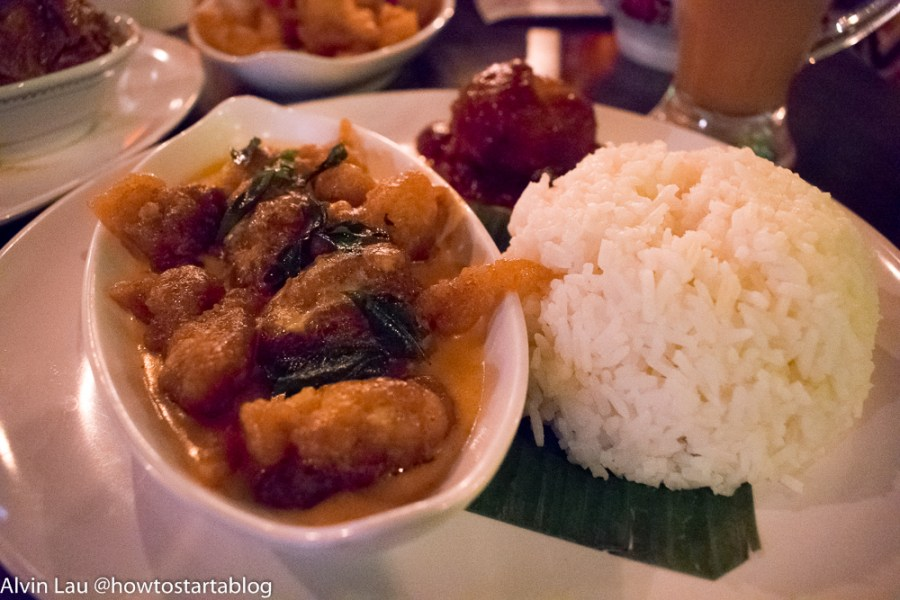 butter milk chicken rice at reminisce midvalley cafe