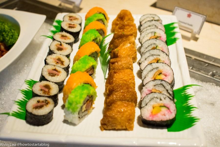 swiss garden buffet dinner sushi