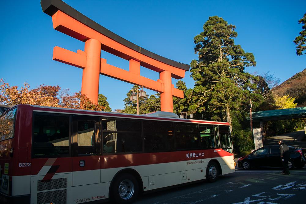 take bus in hakone