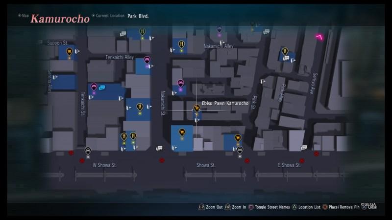 yakuza kiwami 2 maps