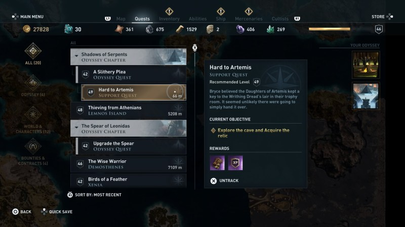 Assassin S Creed Odyssey Hard To Artemis Walkthrough Rare Norm