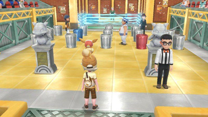 pokemon let's go thunder badge gym