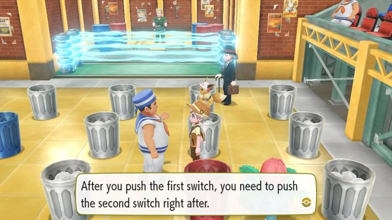 pokemon let's go vermilion city gym guide