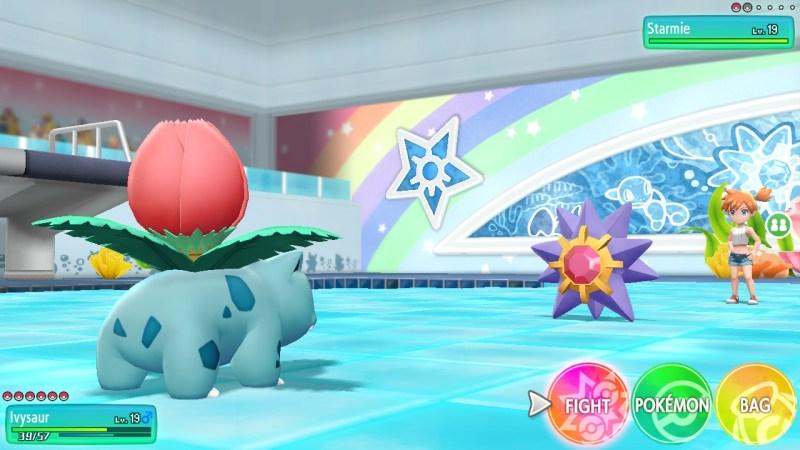 pokemon let's go what pokemon does misty use
