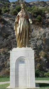 Statue (modern day) of St. Mary, near the gate to Ephesus