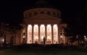 The Athenaeum where we saw the Bucharest Filarmonica.