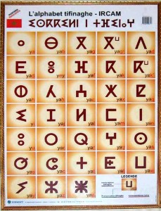 Tifinagh alphabet (Source: Wikipedia)