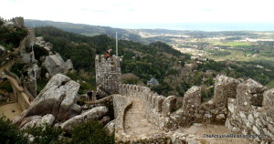 The sprawling, serpentine walls of the Moorish Castle