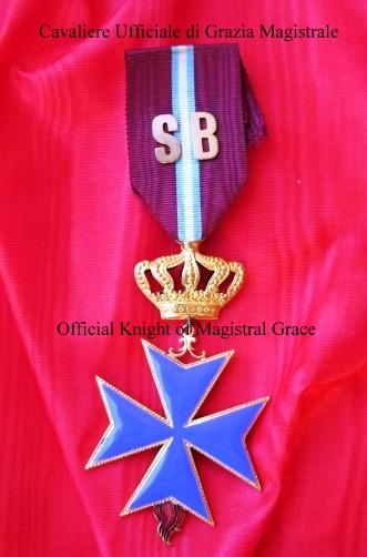 insegne di Cavaliere Ufficiale di grazia magistrale