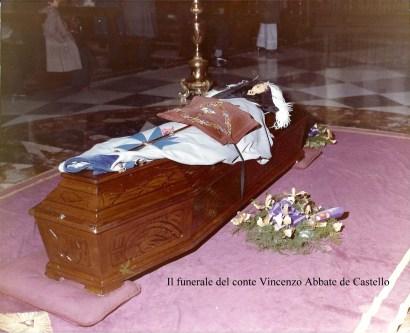 le spoglie del conte Vincenzo Abbate de Castello