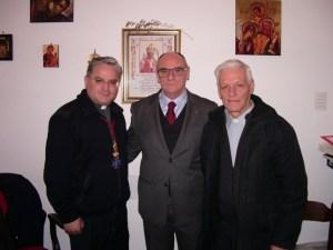 Ordine Militare S. Brigida- il Gran Maestro con P. Petrillo e P. Tommaso