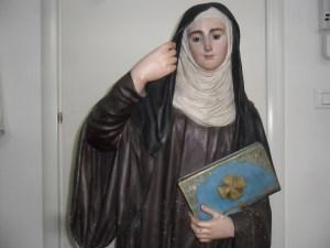 Statua in cartapesta pugliese di S. Brigida