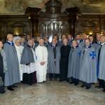 Cavalieri e Dame di S. Brigida nella Sagrestia della Chiesa di S. Brigida