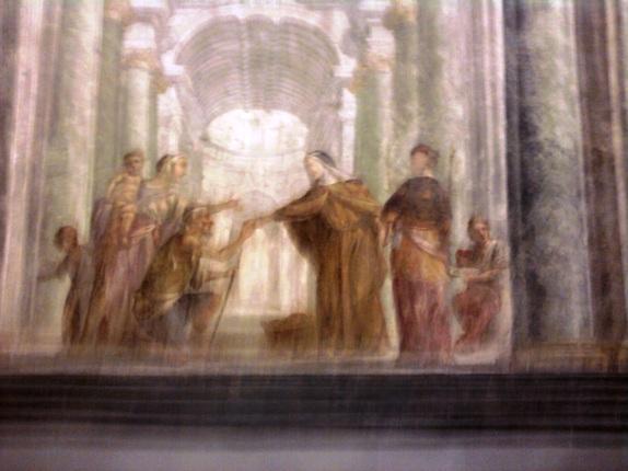 O.M.S.B.  Santa Brigida dona il pane ai meno fortunati