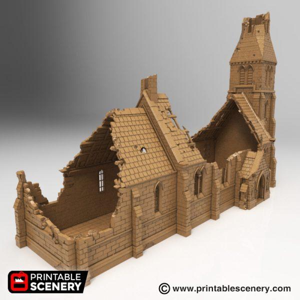 Modelo de Iglesia destruida