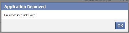 Facebook: applicazione rimossa