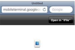 Cydia open in iFile