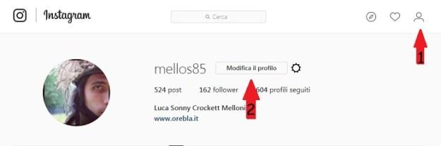 accesso profilo instagram
