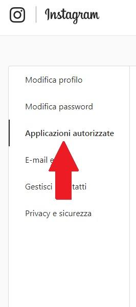 instagram applicazioni autorizzate lista