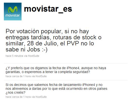 Movistar uscita iPhone 4
