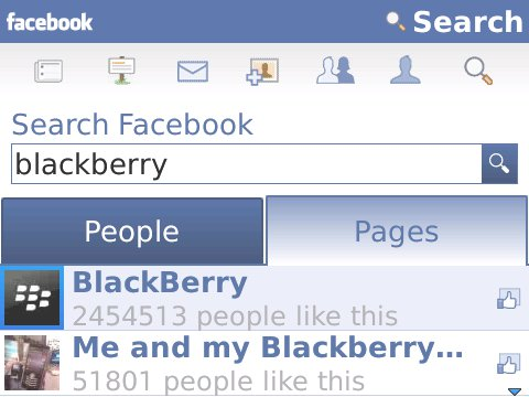 Screenshot Facebook 1.9 beta