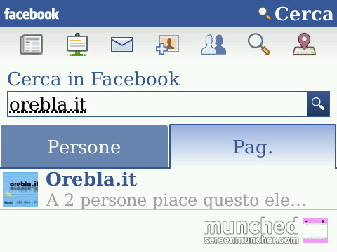 BlackBerry Facebook Search