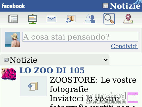 Facebook Grafica Migliorata per BlackBerry