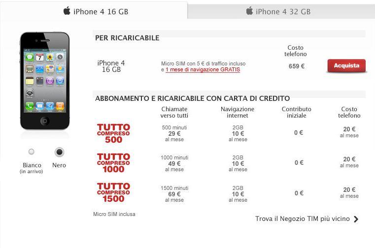 iphone 4 white tim